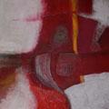 Acryl und Strick auf Leinwand