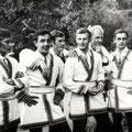 слева:Шабанов Володя,Вишкин Коля,Кузнецов Юрий,Чариков Николай,Савельев Евгений,Косткевич Юдик