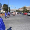 2006年 東京ベイ浦安シティマラソン マラソン参加者が安心して走れるよう、沿道で交通整理