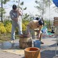 2007年 第2回シーガーデン新浦安自治会 新春餅つき大会の様子