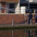 堀江二丁目自治会 可搬動式ポンプによる放水訓練