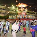 納涼盆踊り大会が浦安小学校で開催された