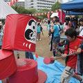 夏:碧浜自治会。多くの自治会で夏・秋祭りを開催