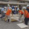 秋:市の防災訓練で体験学習