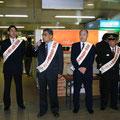 2005年 夜間路上禁煙運動キャンペーン 新浦安駅前で岡本連合会会長による主催者挨拶