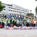 自治会ゴミゼロ運動街頭キャンペーン。新浦安駅前でゴミゼロや美化活動への協力を呼びかけた