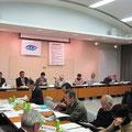自治会の防災活動について活発に話し合われた意見交換会