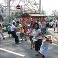 2005年 富士見三丁目自治会夏祭り 富士見三丁目自慢の山車
