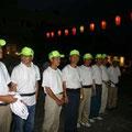 2005年 浦安市納涼盆踊り大会 開会式に実行委員勢ぞろい