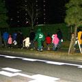2006年 日の出地区合同夜回り ベイシティ浦安自治会、ベイシティ新浦安自治会、日の出小お父さんの会の3団体合同夜回りが行われた