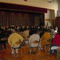 2005年 シーガーデン新浦安自治会臨時総会の様子 開場となった日の出中学校体育館には227名が参加、市内73番目の自治会が誕生した