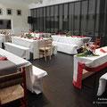 Dekorierter Festsaal von Studio II des Tanzstudio La Fragua