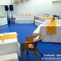 Dekorierter Festsaal von Studio II des Tanzstudio La Fragua anlässlich einer Kommunionsfeier
