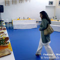Büffettisch im dekorierten Festsaal von Studio II des Tanzstudio La Fragua anlässlich einer Kommunionsfeier