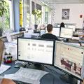 Die meisten Pläne werden heute am Computer mit Hilfe von CAD-Programmen (computer aided design) erstellt.