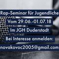 Mobilisierungsflyer für das Kreativ/Gesangseminar, Projekt Respekt XXL..