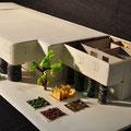 Modell für ein Studentenheim, Claudia, Lina, Astrid und  2013