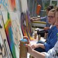 """Graffiti - Schrift auf der Straße """"PIECES"""", 6Ai 2015/16"""