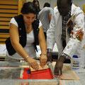 Siebdruckworkshop mit Gastkünstler im Rahmen des Uganda-Projekts 2010