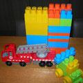 € 12,50 Abrick blokken en brandweerwagen