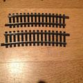 € 1,50 per 2 st Fleischmann 6032 R415 Gebogen rail, 15 graden
