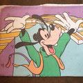 € 2,50 leuke dunnere dekbedhoes met Goofy en Mickey en Donald erop tweezijdig afmetingen 125x190