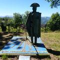 La statue qui attend les pélerins