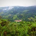 Le monastère au loin de Valdedios