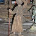 Le pélerin dans la chapelle de Buspol