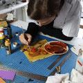peinture sur cuir