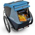 Croozer Kid Plus for 2 Fahrradanhänger mit viel Stauraum im Kofferraum