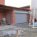 3.11.2012: Das Garagentor wird montiert