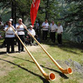 Alphorn Duo in Aktion