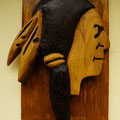 Geronimo - Indianer - Kopf - Holzkunst