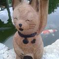 Maneki Neko - Glücks Katze - Holzkunst