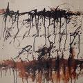 STURZ DES PHÖNIX II, 2016 – Tusche auf Papier, 30 x 50 cm (nicht mehr verkäuflich)