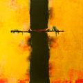 SUCHE NACH NEUEN WEGEN, Acryl, Tinte auf Leinwand, 100 x 115 cm, 2014