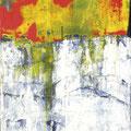 ZU DEN UFERN DER TRÄUME, Acryl, Papier auf Leinwand, 125 x 45 cm, 2014