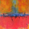 AM ENDE DES BLAU, Acryl auf Leinwand 115 x 100 cm, 2014