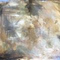 WINTERREISE II, 2015 – Acryl, Collage, Wachs auf Leinwand, 120 x145 cm