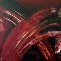 ROTE ELFEN UND KOBOLDE, (Red elves and sprites), Acryl auf Leinwand, 60 x 50, 2008