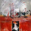 AUFBRUCH, Acryl, Collage auf Papier, 39 c 25.5 cm, 2008