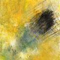 DAS ENDE EINES SOMMERS, 2016 – Pigmente, Acryl auf Leinwand,  49 x 36 cm