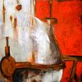 MA BULLE, 2015 – Acryl, Oxidation, Stifte auf Leinwand, 100 x 100 cm