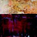 ROTE WASSER, 2015 – Acryl, Marmormehl, Pigmente, Graphit auf Leinwand, 100 x 100 cm
