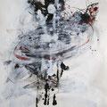 LA VALSE, 2016 – Encre de chine, Aquarell, Acryl auf Papier 50 x 33 cm– Aus der Serie – « Entre la vie et la mort » (Zwischen Leben und Tod)