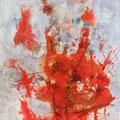 STURZ DES PHÖNIX, 2015 – Tusche, Aquarell, Pigmente, Kohle auf Papier, 69 x 49 cm