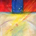 LICHT UND STEIN, Aquarell, Mischtechnik auf Papier Arches, Grain Torchon, 24 x 18 cm, 2014