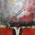 DURCHBRUCH, Acryl, Collage auf Papier, 39 c 25.5 cm, 2008