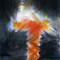 … ES BRENNT, Kreide auf Papier, 39 x 28 cm, 2011